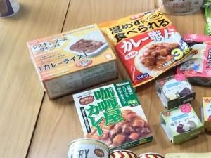 11非常食イベント食品 カレー3種